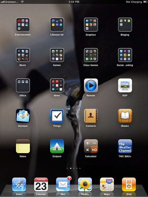 iOS 4.2.1 on my iPad. It is rocking!