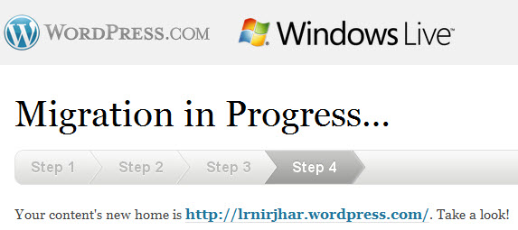 Windows Live Space is Wordpress Now!
